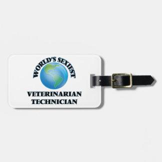 El técnico veterinario más atractivo del mundo etiqueta para equipaje