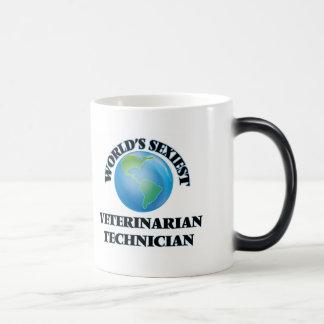 El técnico veterinario más atractivo del mundo tazas de café