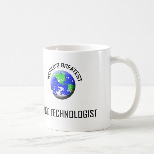 El tecnólogo más grande de la comida del mundo taza de café
