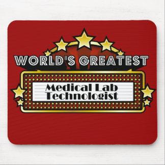 El tecnólogo más grande del laboratorio médico del tapetes de raton