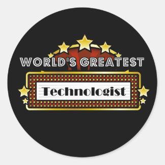 El tecnólogo más grande del mundo pegatina redonda