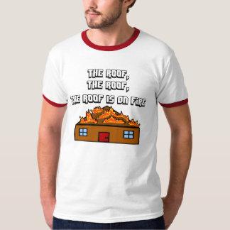 El tejado está en la camiseta de Hip Hop del Playera