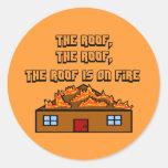 El tejado está en los Fuego-Pegatinas