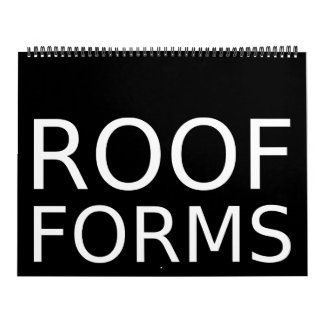 El tejado forma el calendario 2015 (los E.E.U.U.)