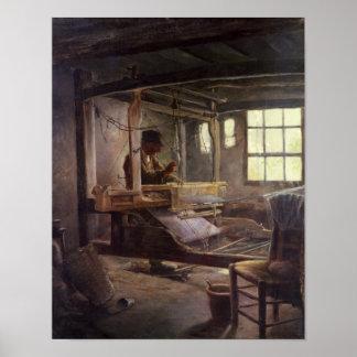 El tejedor bretón, 1888 póster