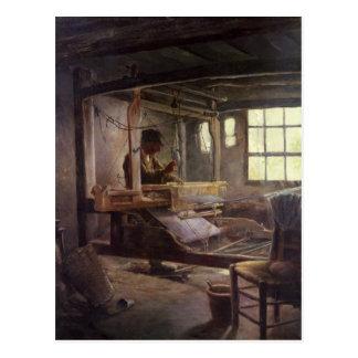 El tejedor bretón, 1888 tarjeta postal
