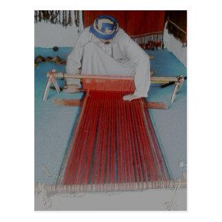 el tejedor tarjeta postal