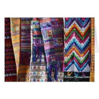 El tejer guatemalteco tarjeta