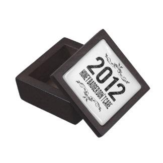 El tejón 2012 de miel del vintage no cuida cajas de recuerdo de calidad