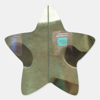 El tejón americano cuida pegatina en forma de estrella