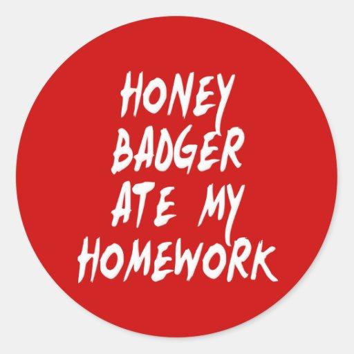 El tejón de miel comió mi preparación etiquetas