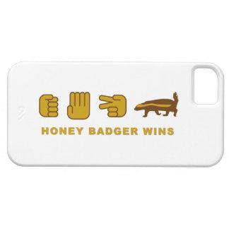 el tejón de miel de papel de las tijeras de la iPhone 5 funda