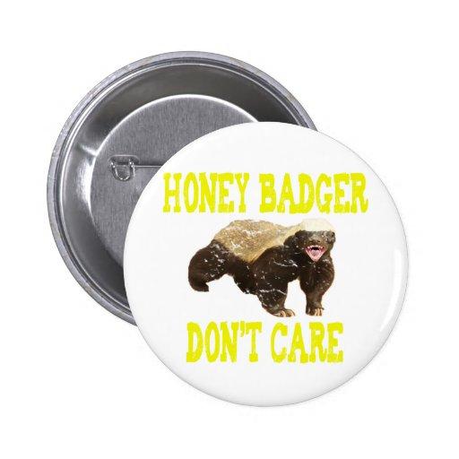 El tejón de miel del VINTAGE no cuida Pin