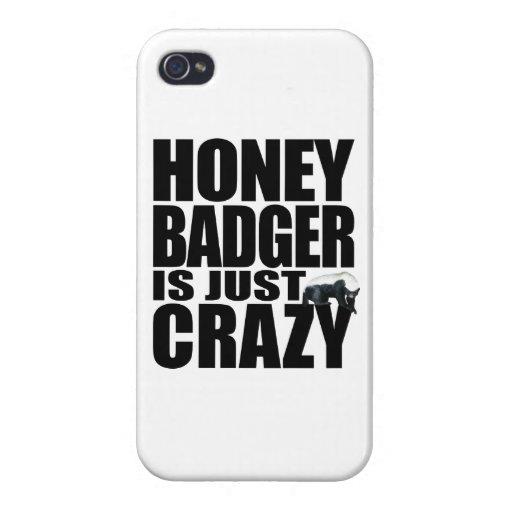 El tejón de miel está apenas loco iPhone 4 fundas