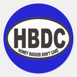 El tejón de miel no cuida al pegatina de HBDC