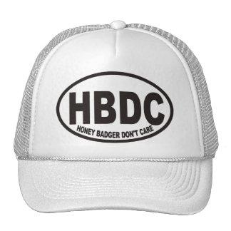 El tejón de miel no cuida el gorra de HBDC