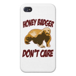 El tejón de miel no cuida iPhone 4 protectores