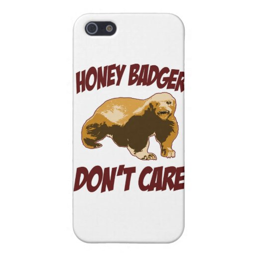 El tejón de miel no cuida iPhone 5 protectores