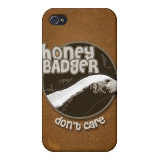 El tejón de miel no cuida (la oscuridad) iPhone 4 funda