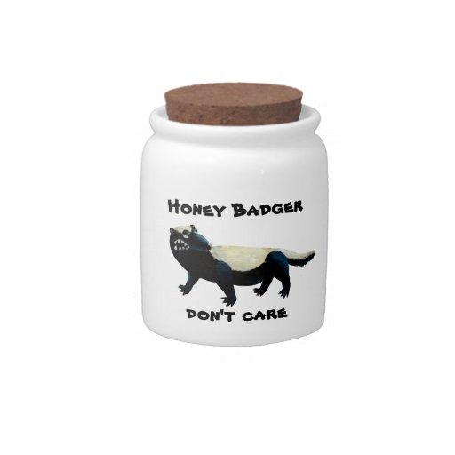 ¡El tejón de miel no cuida! Plato Para Caramelo