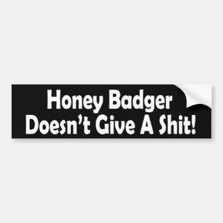 El tejón de miel no da a una pegatina para el para pegatina para auto
