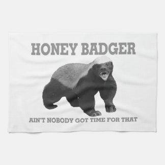 El tejón de miel no es nadie hora conseguida para toallas de mano