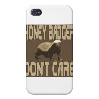 el tejón de miel no hace el cuidado 2 iPhone 4 fundas
