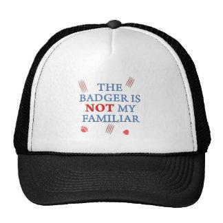 El tejón no es mi familiar gorras de camionero