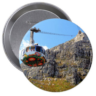 El teleférico para la montaña de la tabla pin