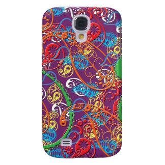 El teléfono coloreado multi salvaje de Paisley enc Funda Para Galaxy S4