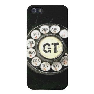 El teléfono de la baquelita del dial rotatorio del iPhone 5 carcasas
