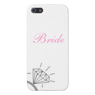 El teléfono del anillo del diamante de la novia Cu iPhone 5 Carcasa