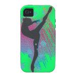 El teléfono del artista del baile encajona verde Case-Mate iPhone 4 carcasa