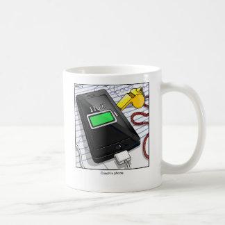 El teléfono del cartón del coche divertido de la taza