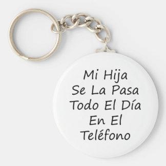 EL Telefono del En del diámetro del EL de Pasa Tod Llaveros Personalizados