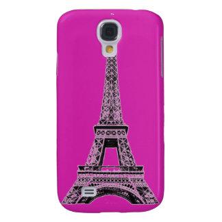 El teléfono fucsia de la torre Eiffel encajona y l Funda Para Galaxy S4