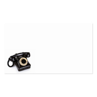 El teléfono negro viejo del vintage con rotatorio tarjetas de visita