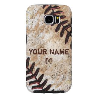 El teléfono personalizado del béisbol encajona la fundas samsung galaxy s6