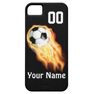 El teléfono PERSONALIZADO del fútbol encajona SU iPhone 5 Case-Mate Carcasas