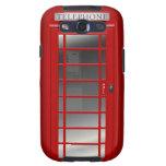 El teléfono rojo CallBox Samsung de Union Jack Lon Samsung Galaxy S3 Coberturas