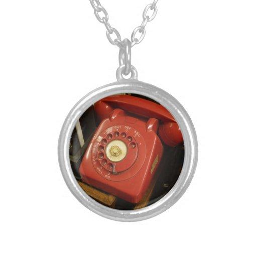 El teléfono rojo viejo joyerias personalizadas