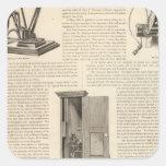 El telégrafo americano la alarma de incendio y de pegatina cuadrada