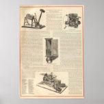 El telégrafo americano la alarma de incendio y de  póster