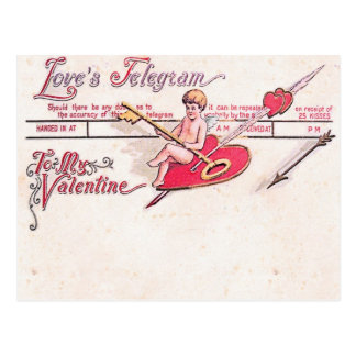 El telegrama del amor postales