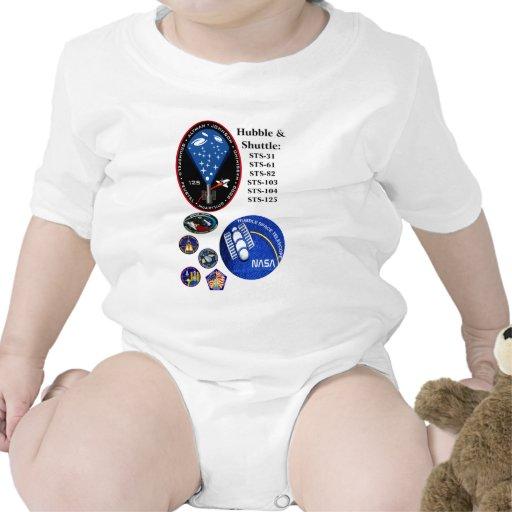 El telescopio de Hubble y la lanzadera Camisetas