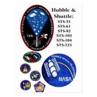 El telescopio de Hubble y la lanzadera Tarjetas Postales
