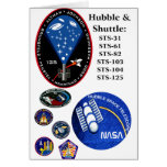 El telescopio de Hubble y la lanzadera Tarjetón