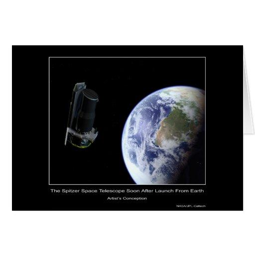 El telescopio espacial de Spitzer pronto después d Tarjeta De Felicitación