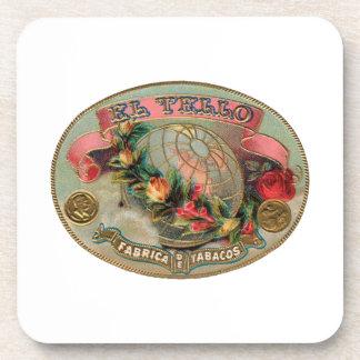 El Tello Cigar Label Drink Coaster