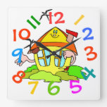 El tema colorido de la casa embroma el reloj de pa